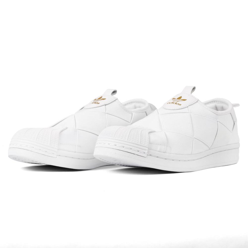 Tenis Adidas Originals Superstar Slipon Quad Branco