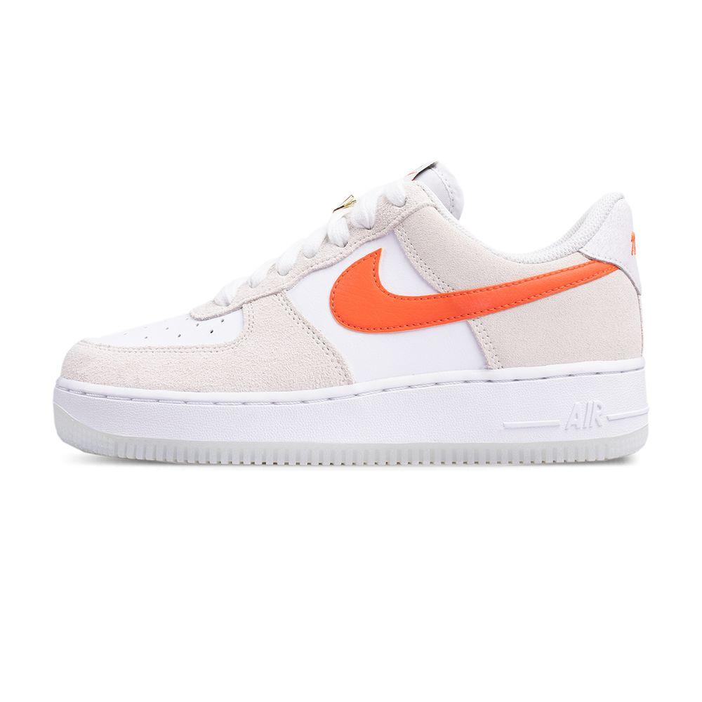 Tenis Air Force 1 07 Bege+laranja Mulher