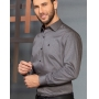Camisa Manga Longa Estampada Cinza - Baumgarten Premium