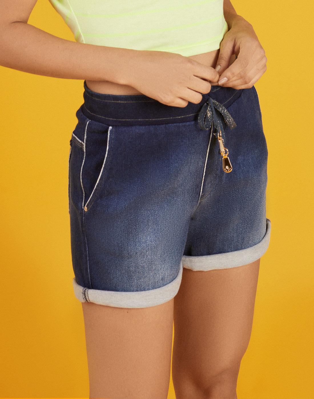 Bermuda Fem. Jeans Hyperflex Midi Comfort Stone Six One