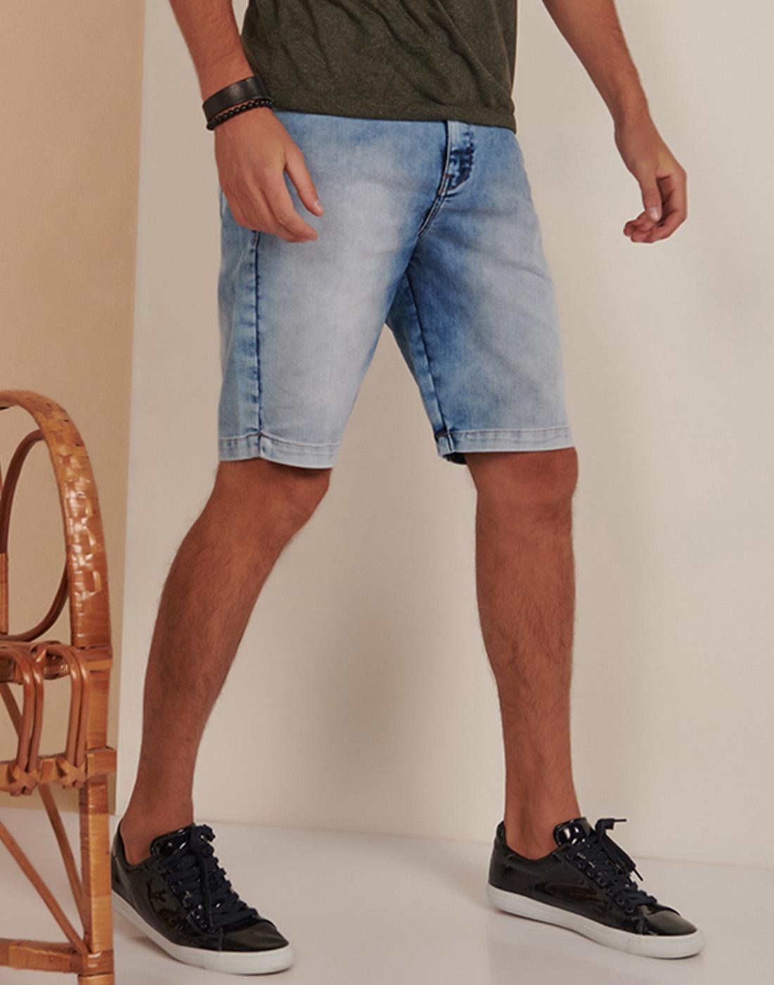 Bermuda Masc. Jogger Jeans Destroyer Six One