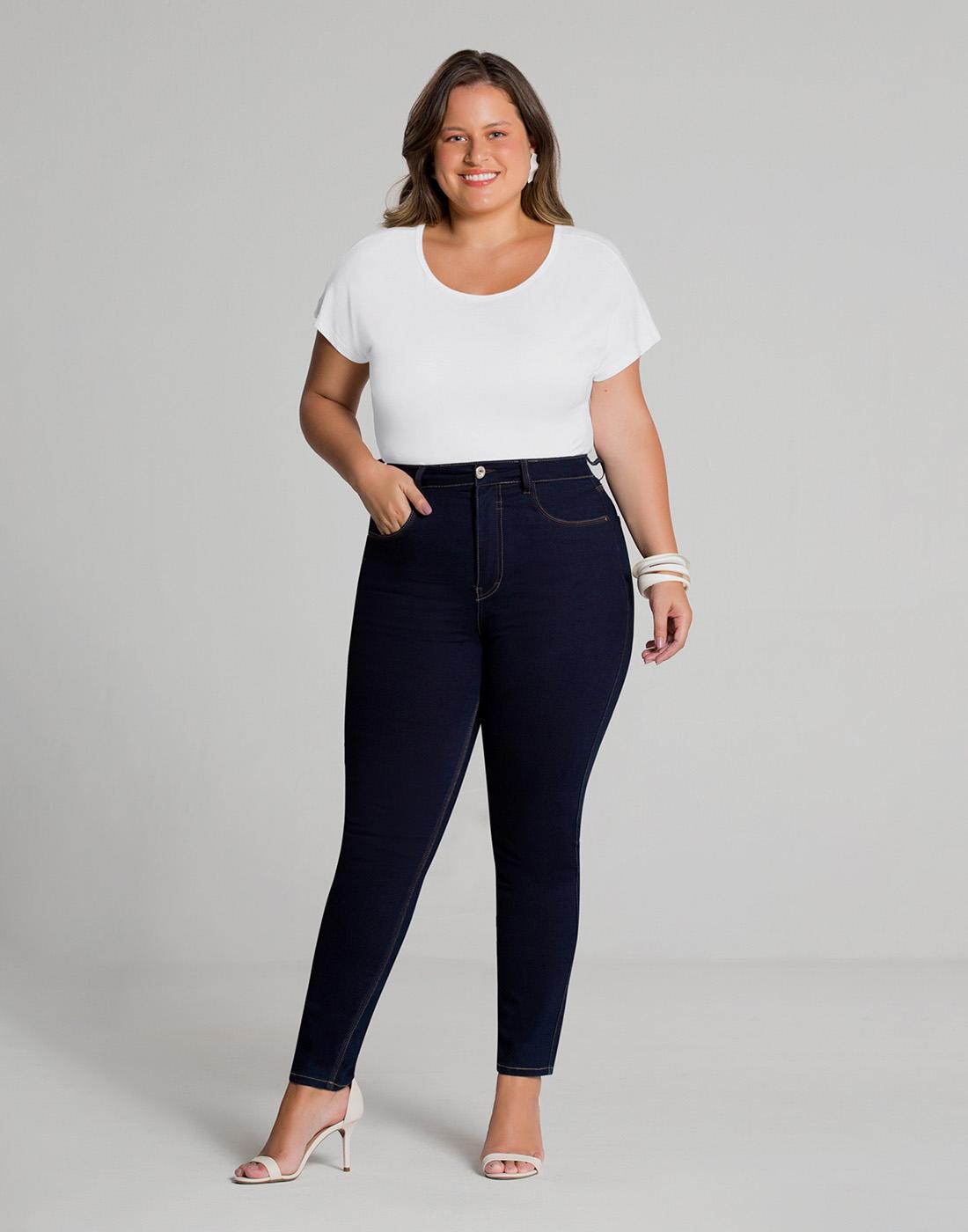 Blusa Básica Mullet Plus Size Malha Viscose Lunender Mais Mulher