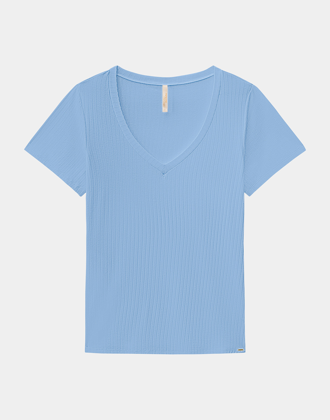 Blusa Básica Plus Size Malha Canelada Lunender Mais Mulher