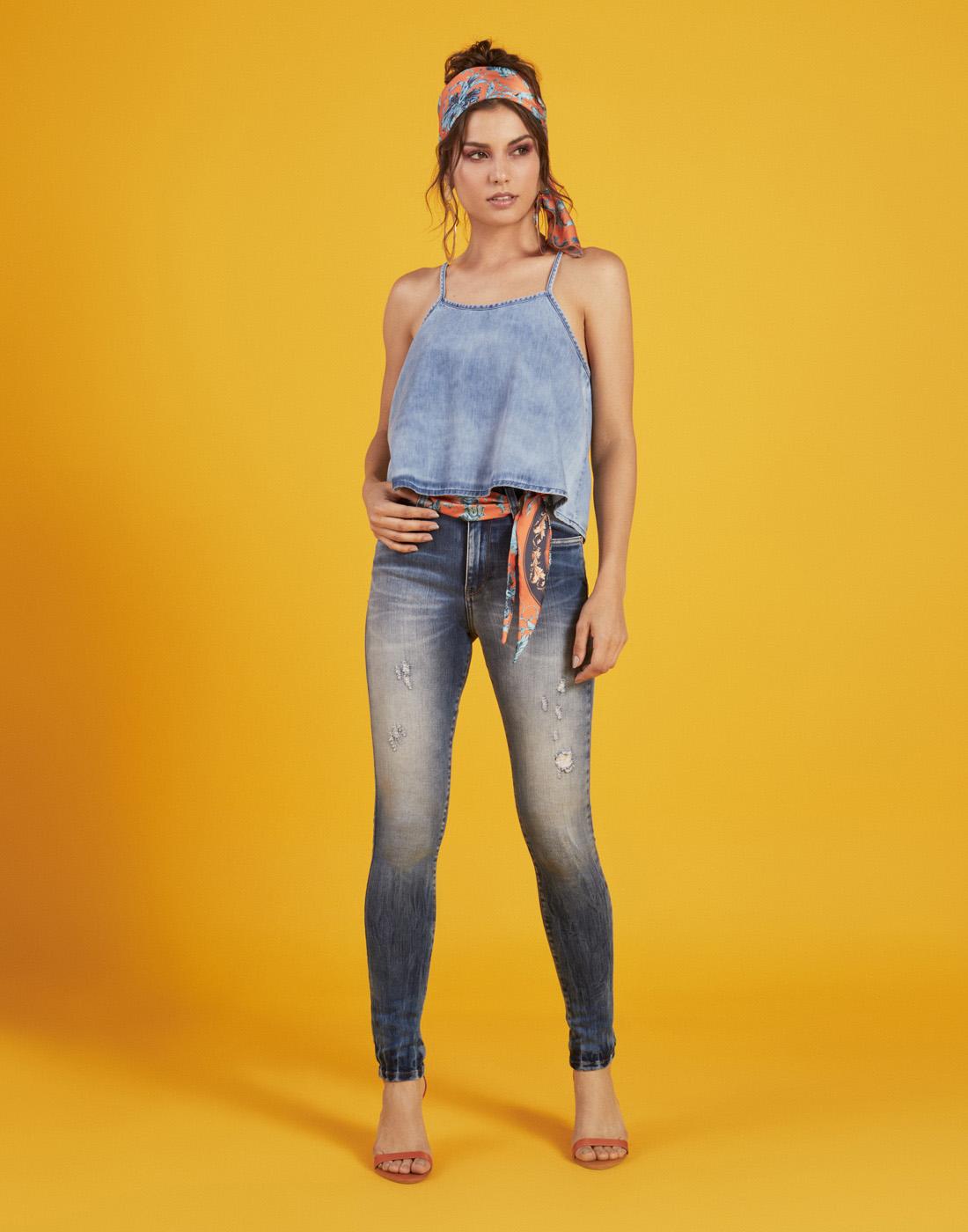 Blusa Fem. Jeans Six One