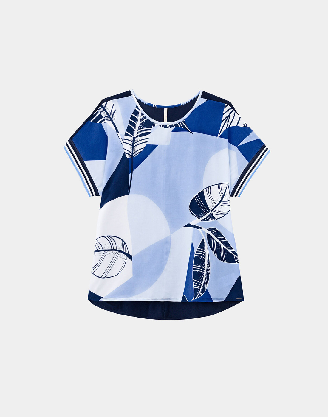 Blusa Mullet Plus Size Tecido Rayon e Malha Viscose Marinho Soft Navy Lunender Mais Mulher