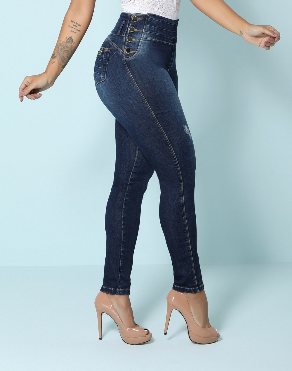 Calça Cigarrete Detox Cintura Alta Set Jeans