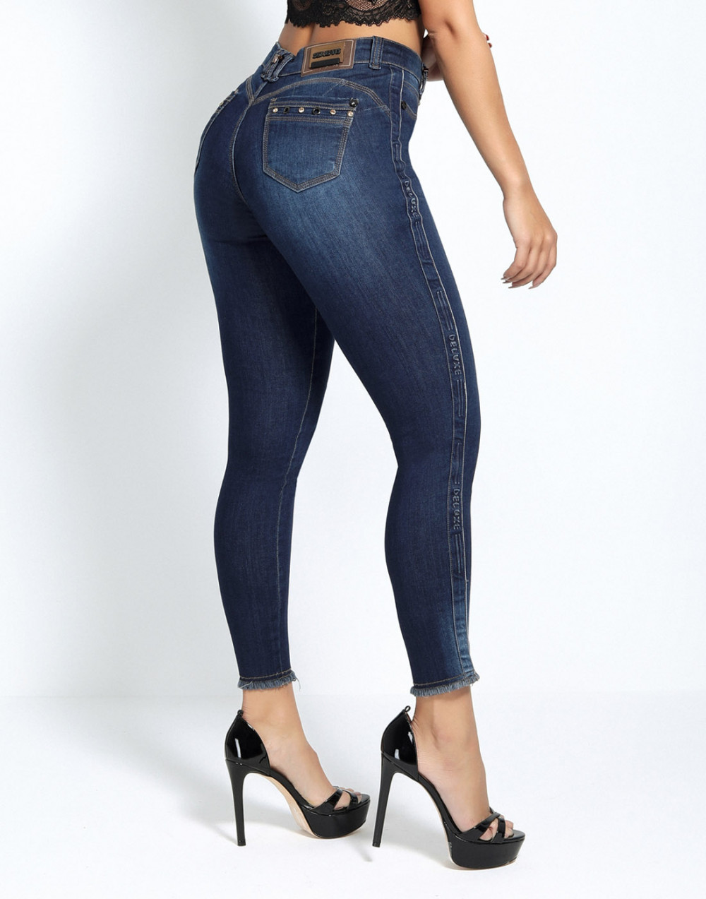 Calça Cigarrete Empina Bumbum Luxo Set Jeans