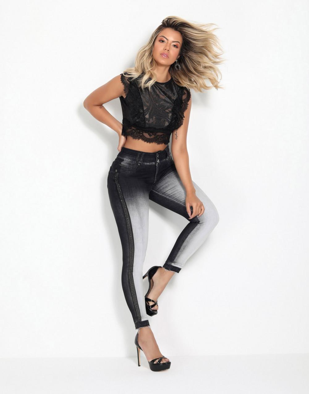 Calça Cigarrete Empina Bumbum Push Sexy Set Jeans