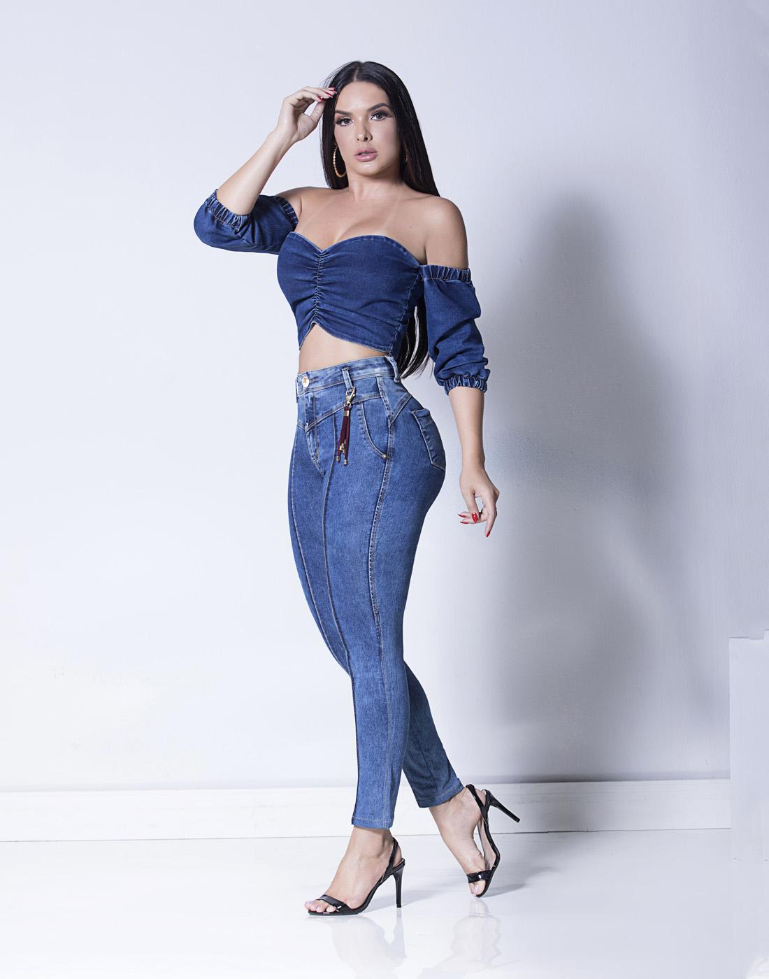 Calça Cigarrete Skinny Cint. Intermediaria Set Jeans