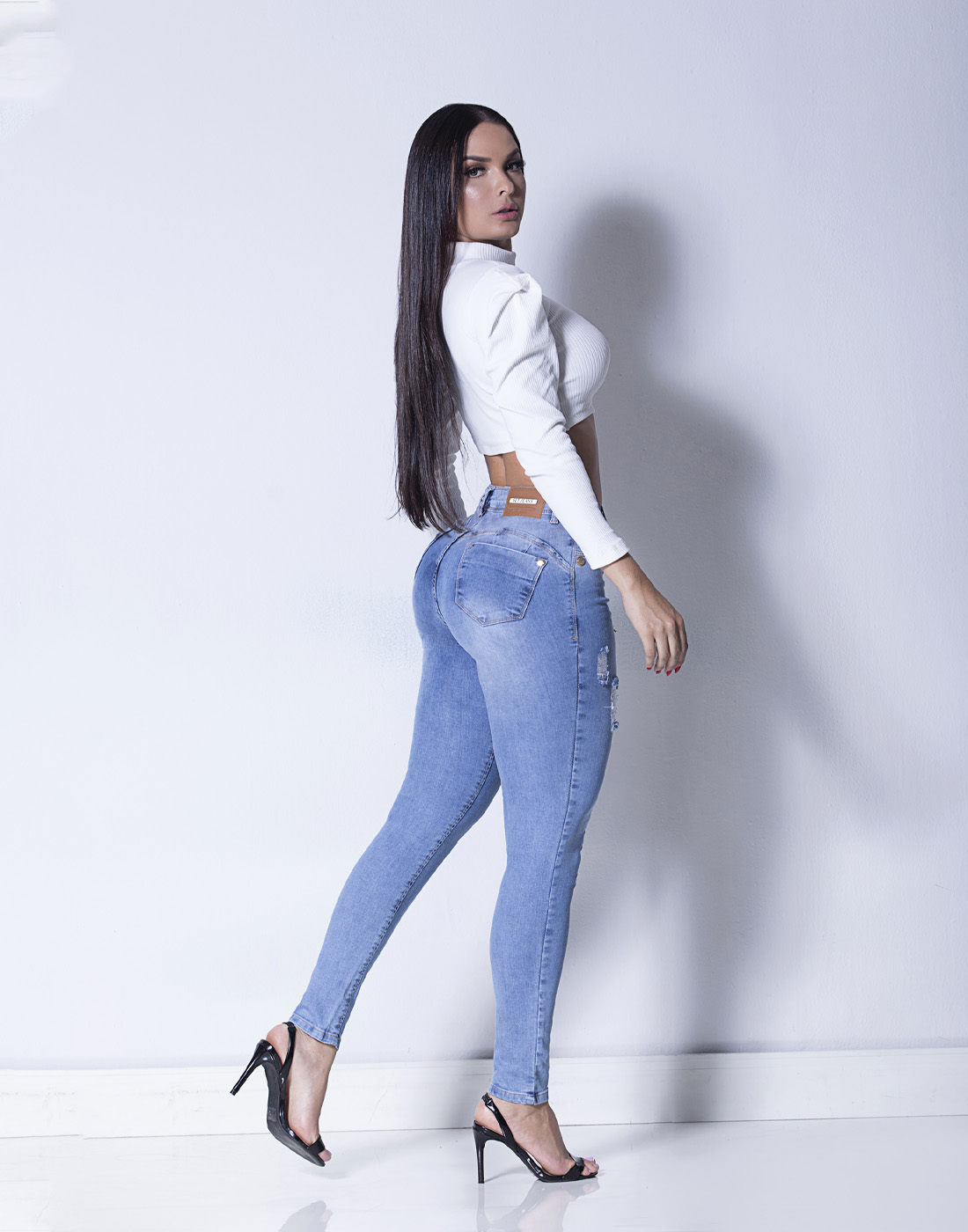 Calça Cigarrete Skinny Cint. Media Set Jeans