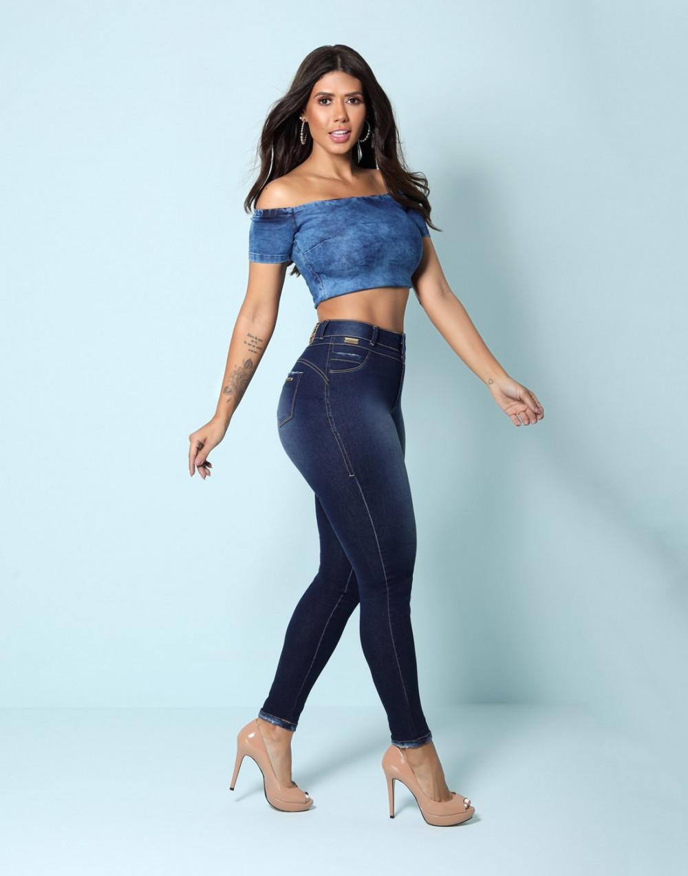Calça Cigarrete Skinny Diva Cintura Média Set Jeans