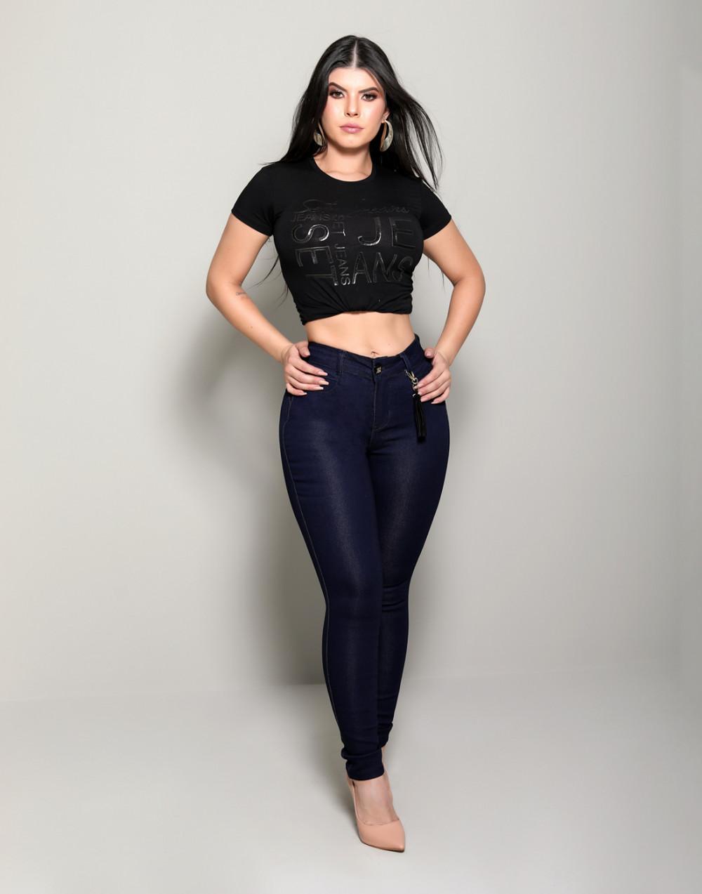 Calça Jeans Modeladora com Cinta Set Jeans