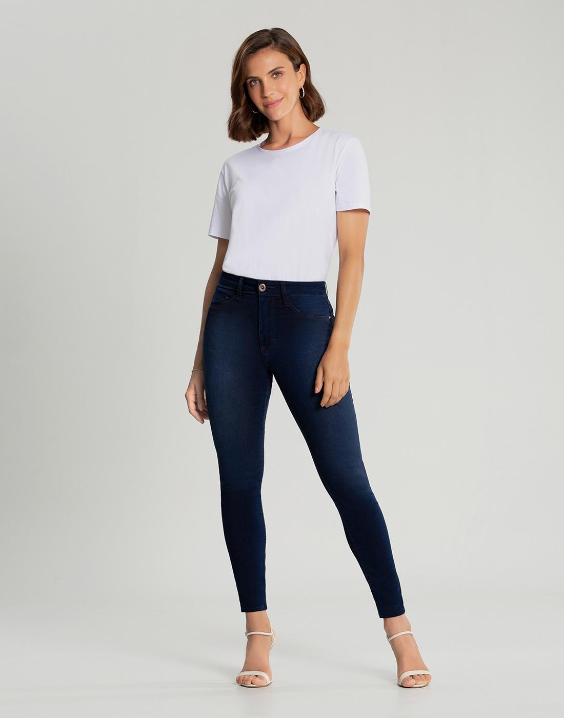 Calça Jeans Skinny Cint. Media Destroyer Fit For Me Lunender