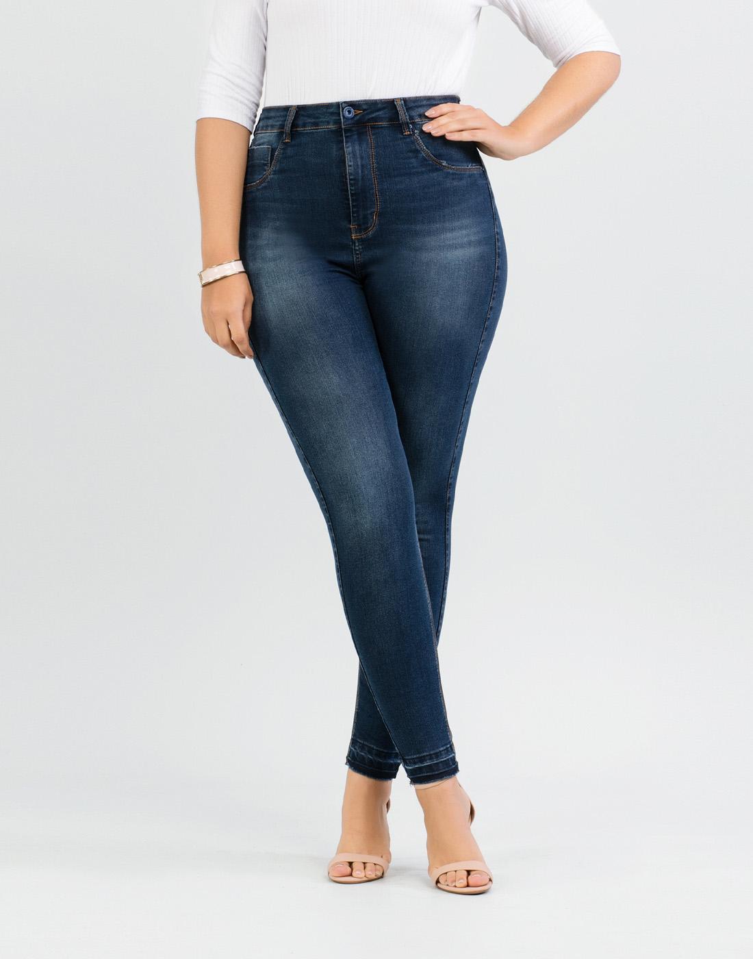Calça Jeans Skinny Cint. Media Fit For Me Lunender Mais Mulher