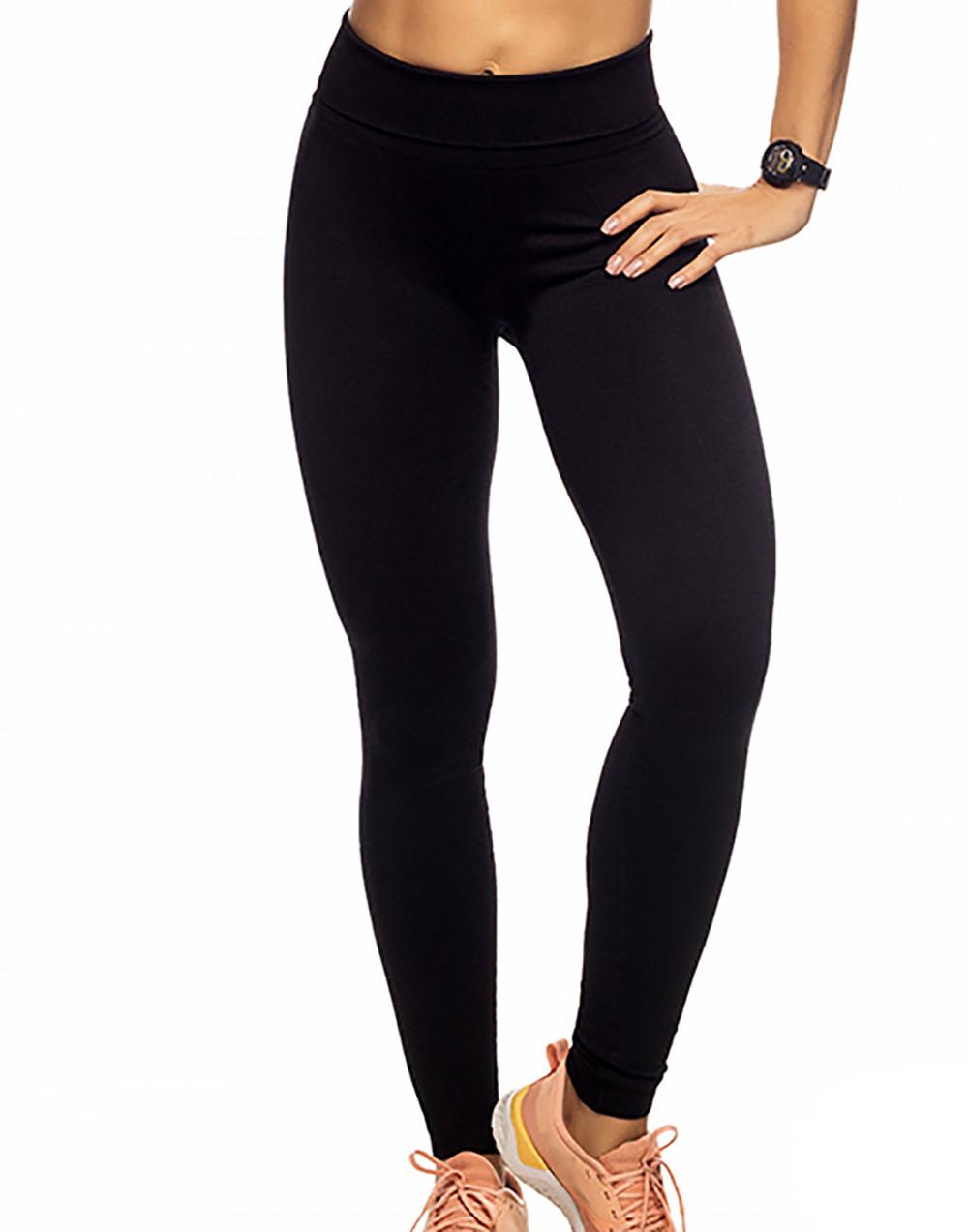 Calça Legging Fitness Sem Costura Preto Zee Rucci