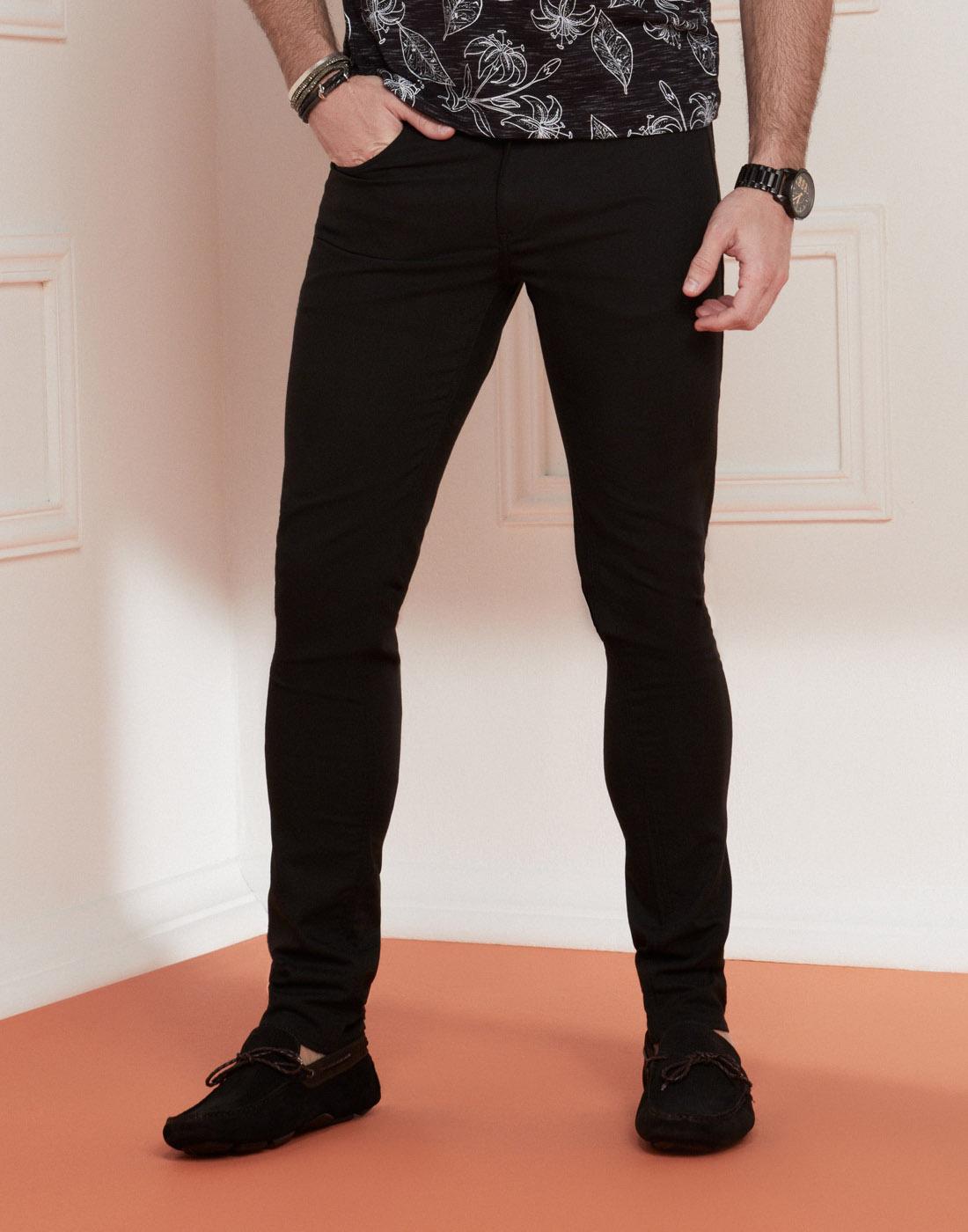 Calça Masc. Jeans Amaciado Skinny Preto Six One