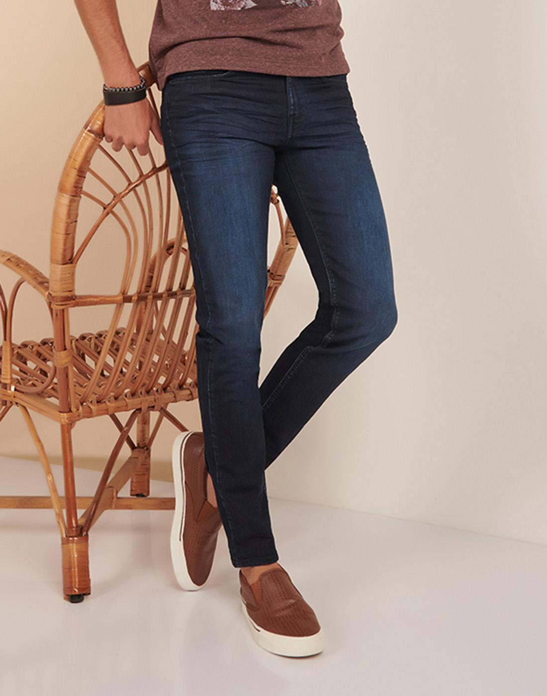 Calça Masc. Just Fit Jeans Amaciado Six One