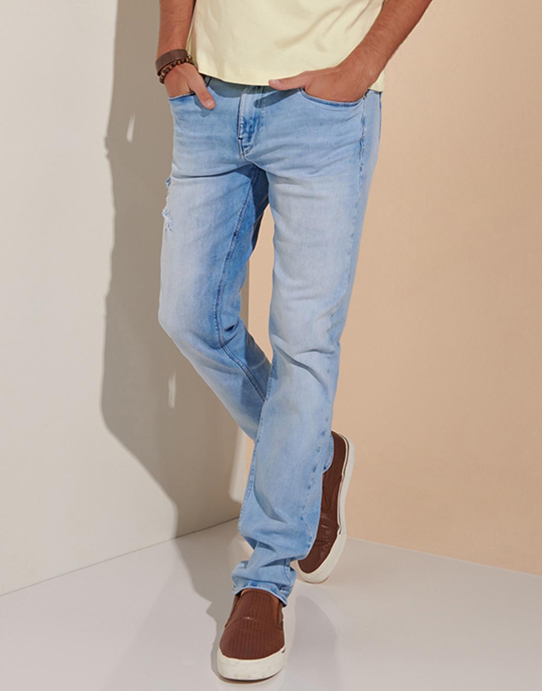 Calça Masc. Just Fit Jeans Destroyer Six One