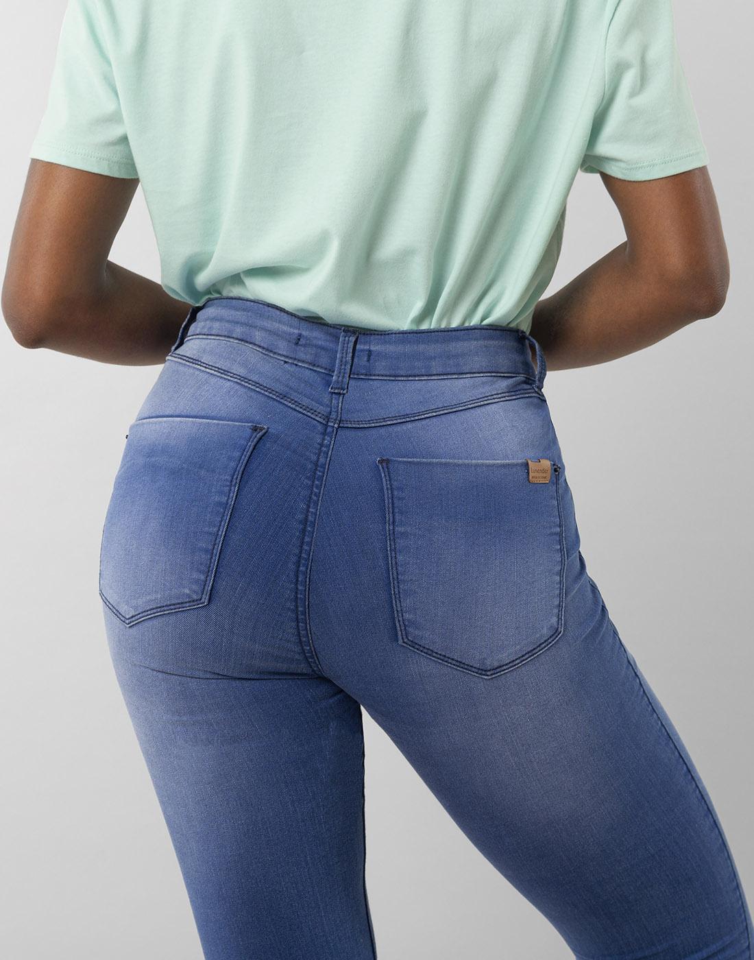 Calça Skinny Fit For Me Jeans Médio Lunender