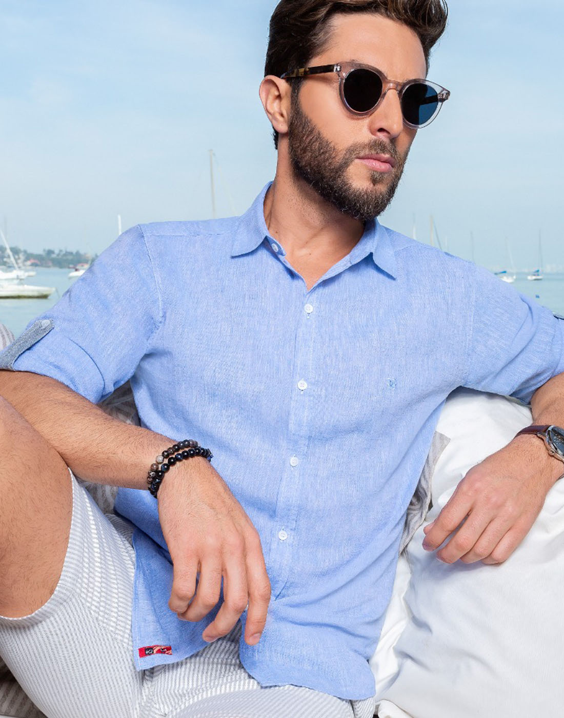 Camisa Manga Longa Estampada Baumgarten BGT