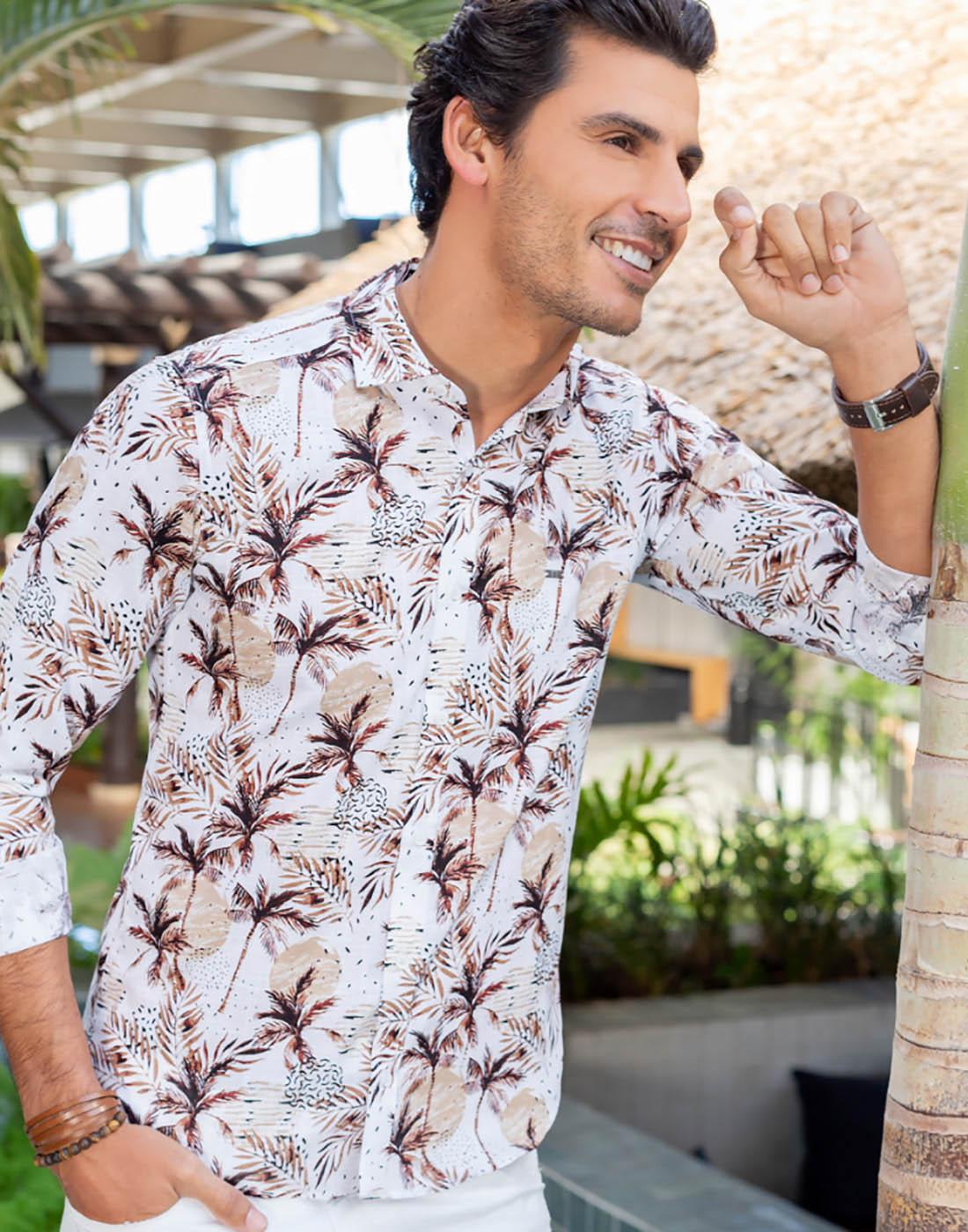Camisa Manga Longa Estampada Floral - Baumgarten BGT
