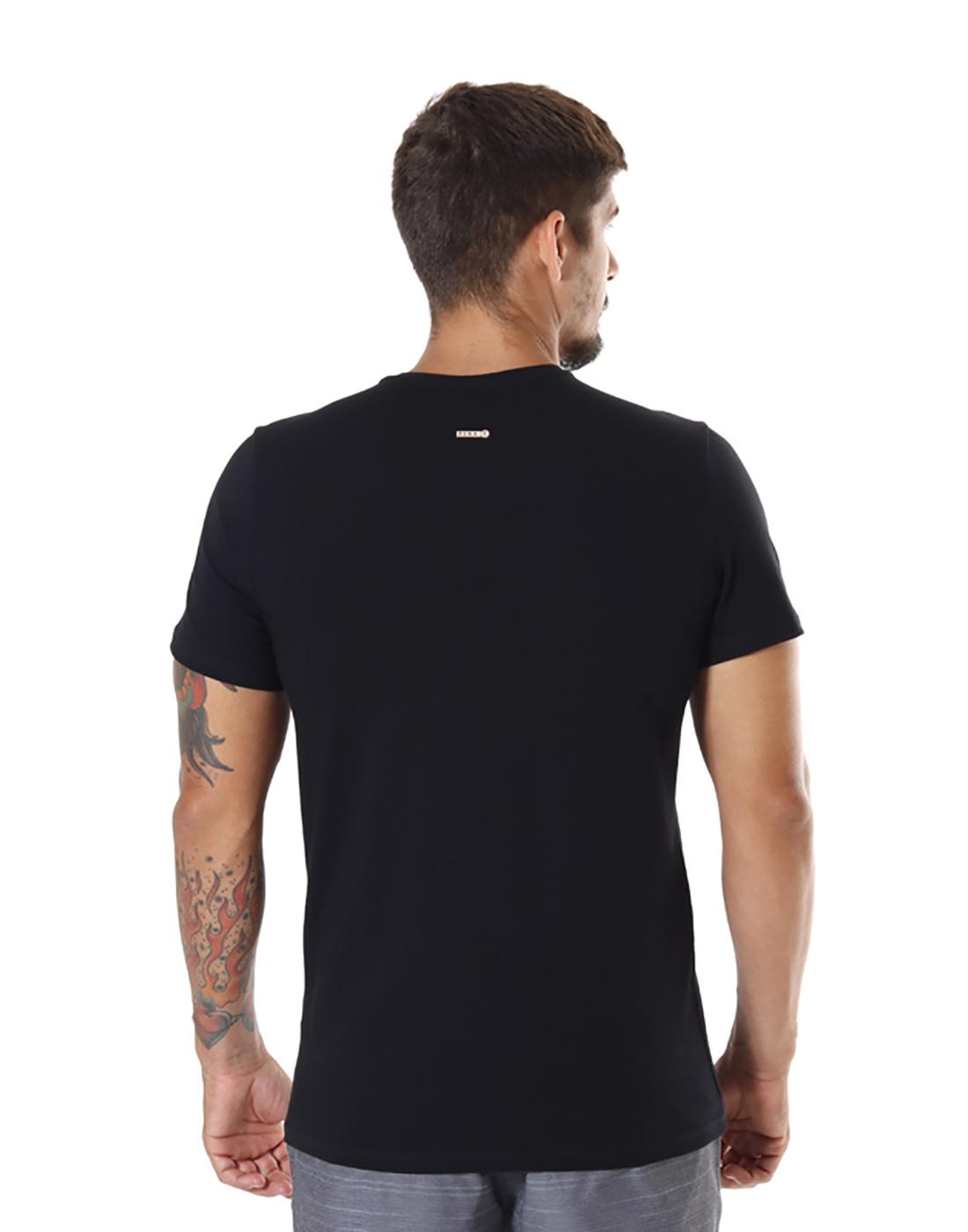 Camiseta Dif. Slim Fit Summer Preto Pena