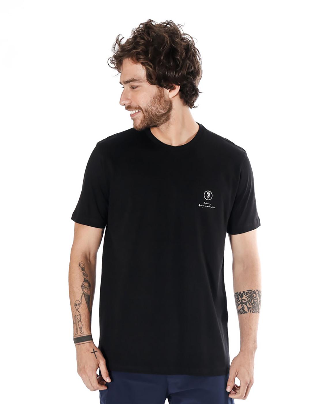 Camiseta Estampada Board Preto Pena