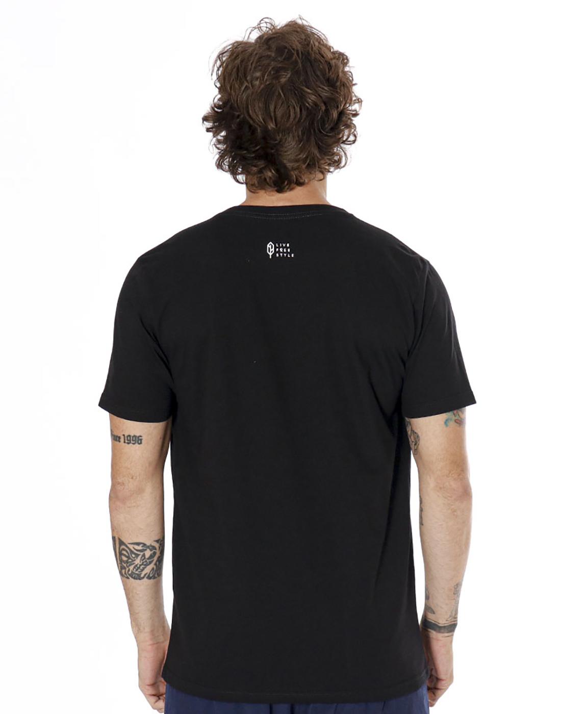 Camiseta Estampada Bob Marley Preto Pena