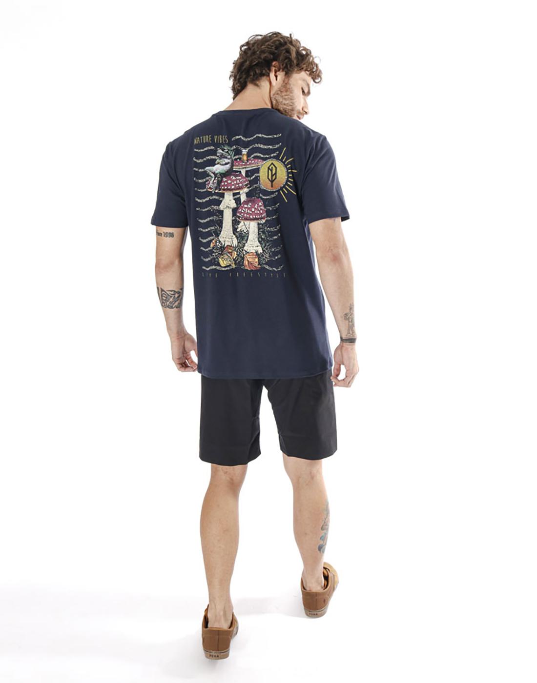 Camiseta Estampada Cogumelo Marinho Pena