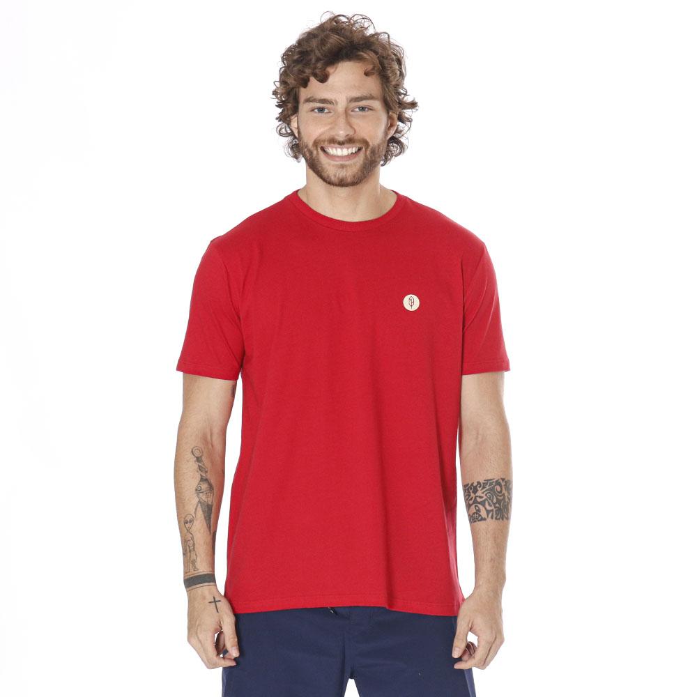 Camiseta Estampada Earth Vermelho Pena