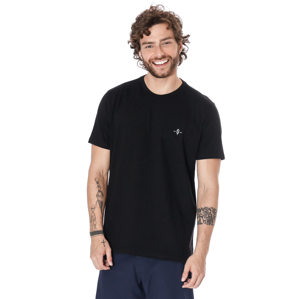 Camiseta Estampada Eclipse Preto Pena
