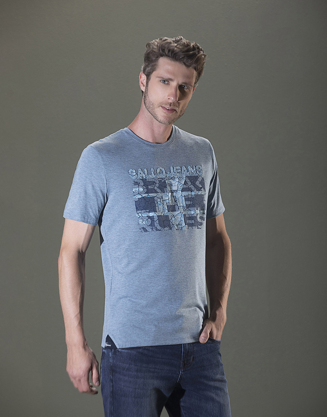 Camiseta Estampada Gola O. Sallo