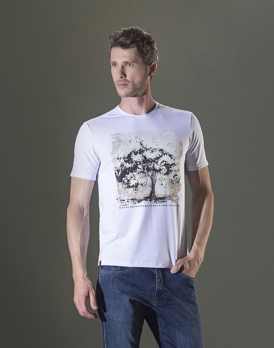 Camiseta Estampada Gola V. Sallo