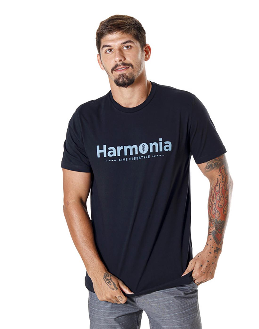 Camiseta Estampada Harmonia Azul Náutico Pena