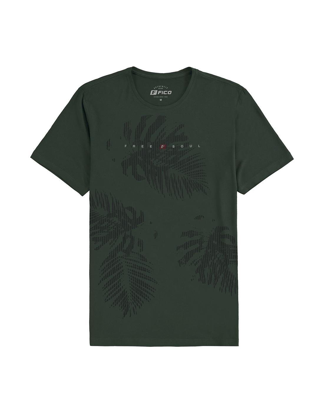 Camiseta Estampada Malha Viscose Fico