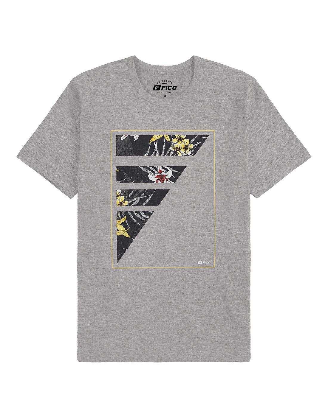 Camiseta Estampada Manga Curta Fico