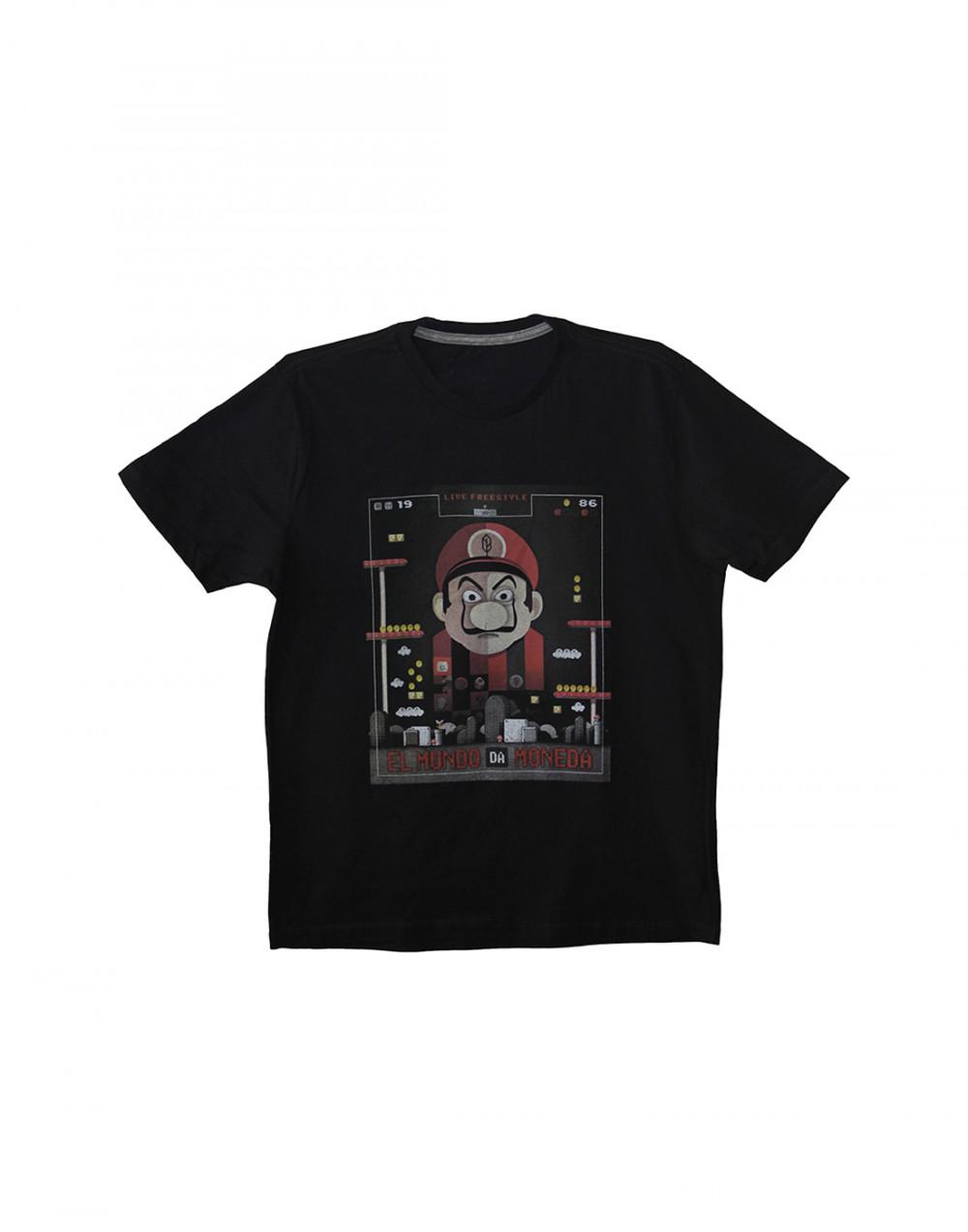 Camiseta Estampada Moneda Preto Pena
