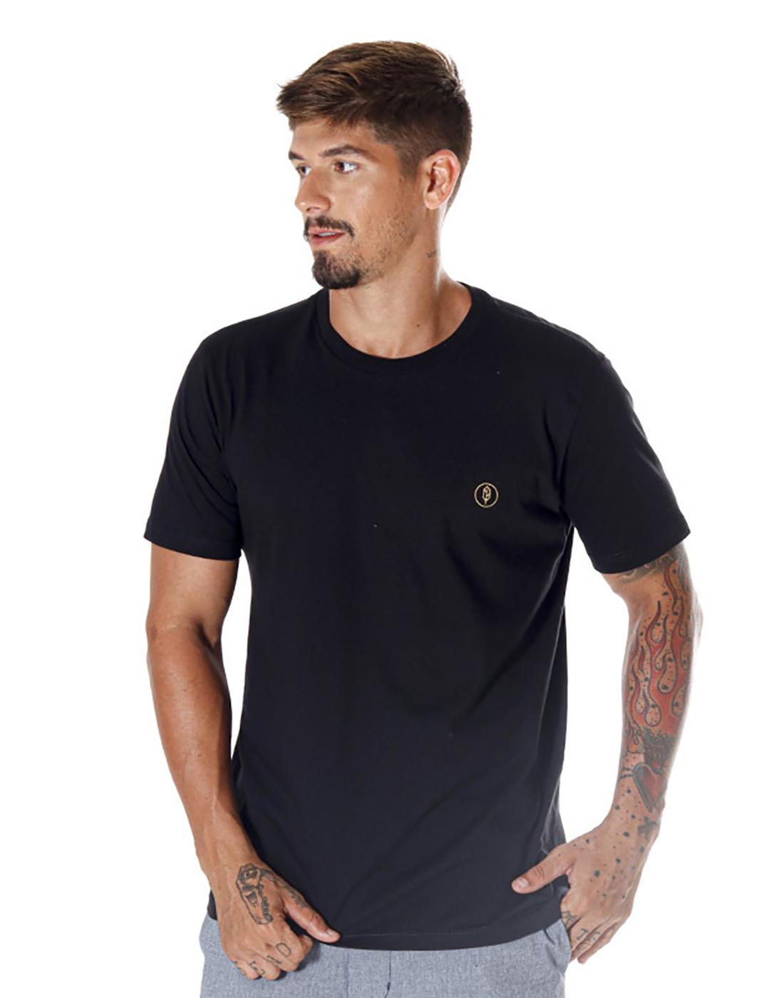 Camiseta Estampada Orbital Preto Pena