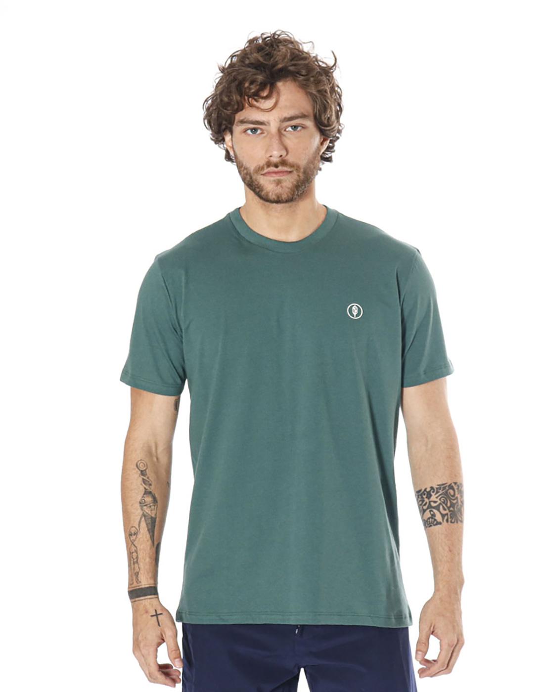 Camiseta Estampada Positividade Verde Pena