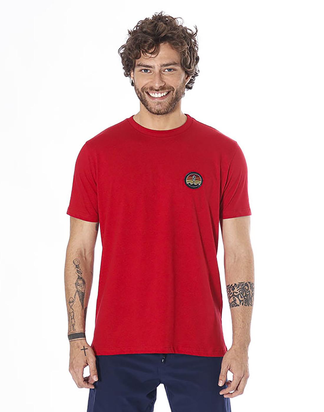 Camiseta Estampada Sun Vermelho Pena