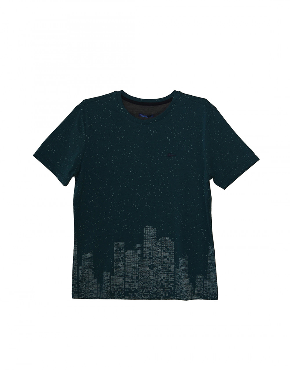 Camiseta Gola O. Estampada Verde Sallo
