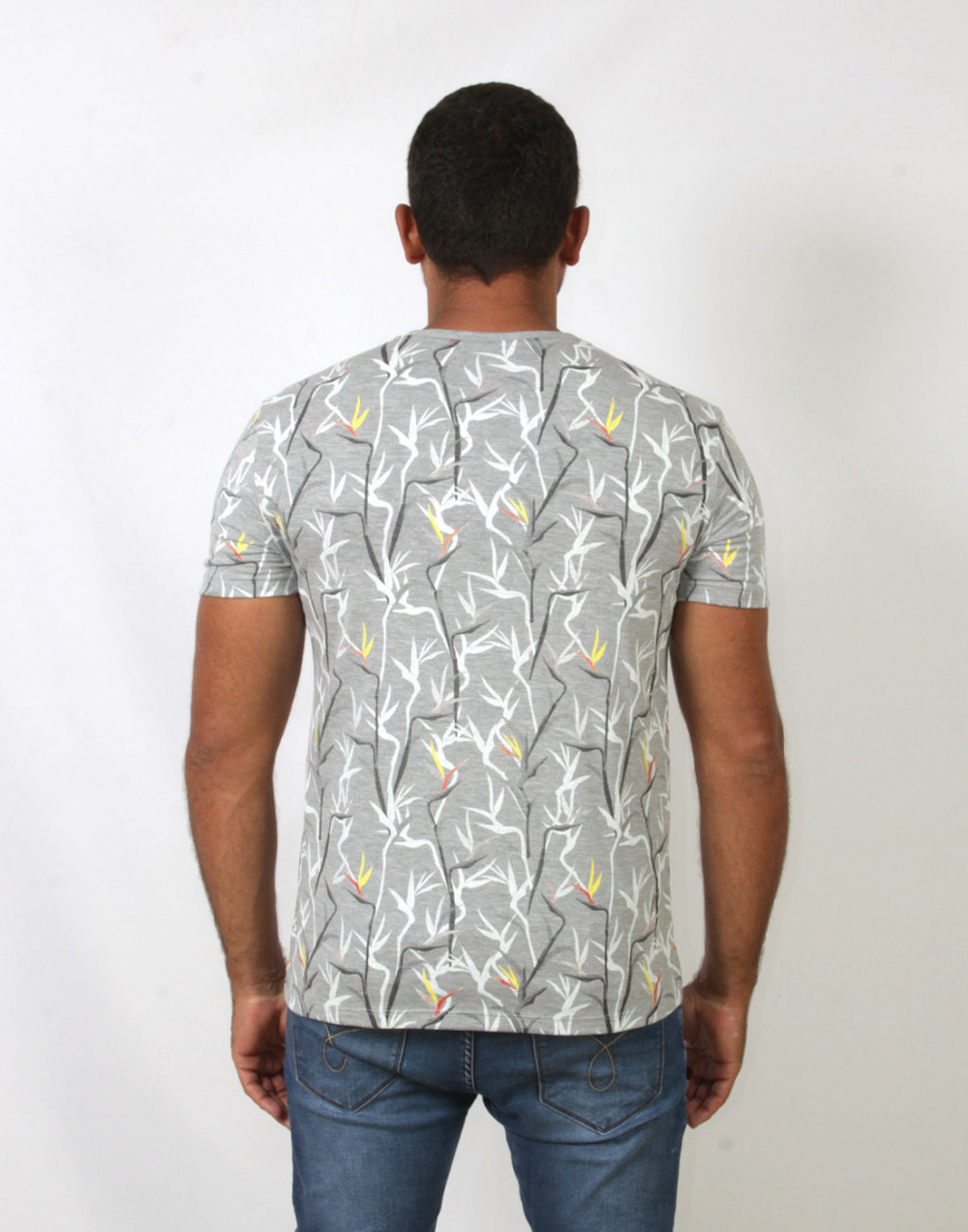 Camiseta Gola V. Estampada Mescla Sallo