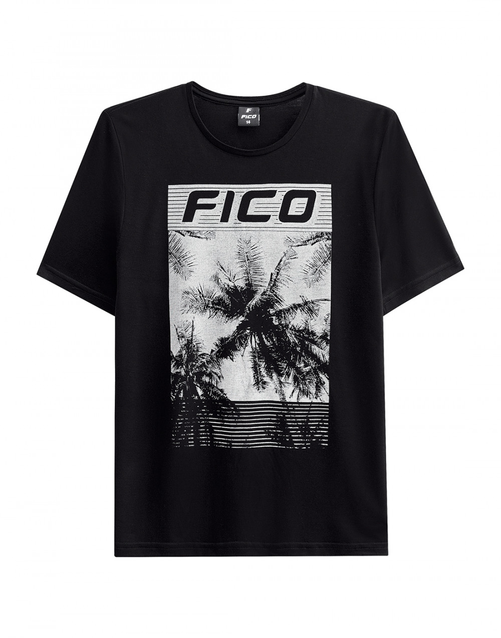 Camiseta Malha New Silk Touch Juvenil Preto Fico
