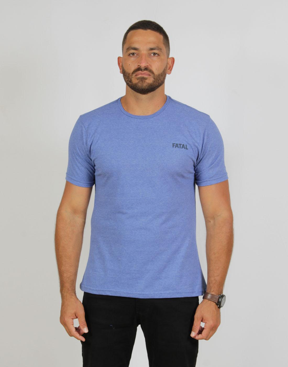 Camiseta Masc. Fashion Basic Azul Violeta Fatal