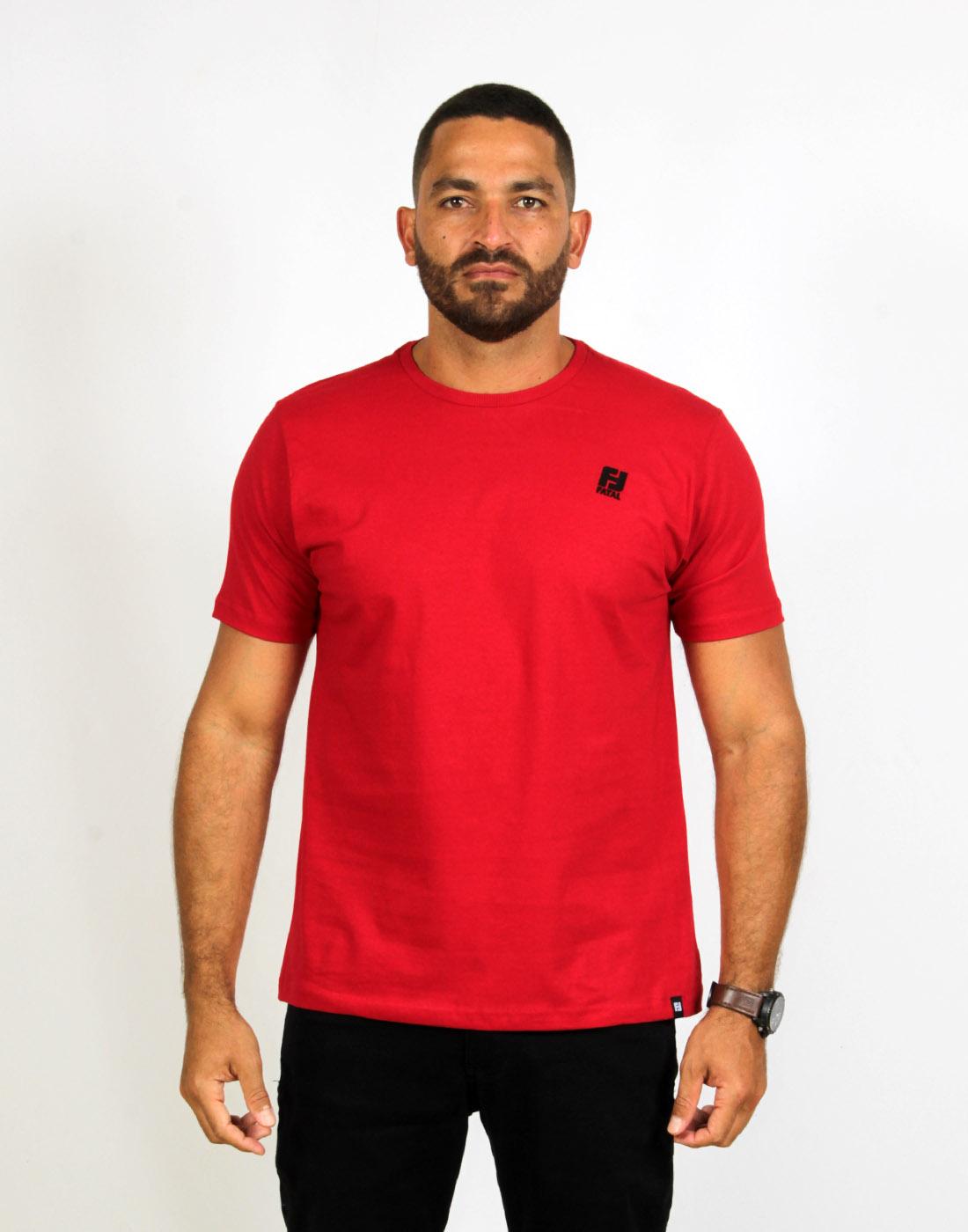 Camiseta Masc. Fashion Basic Vermelho Fatal