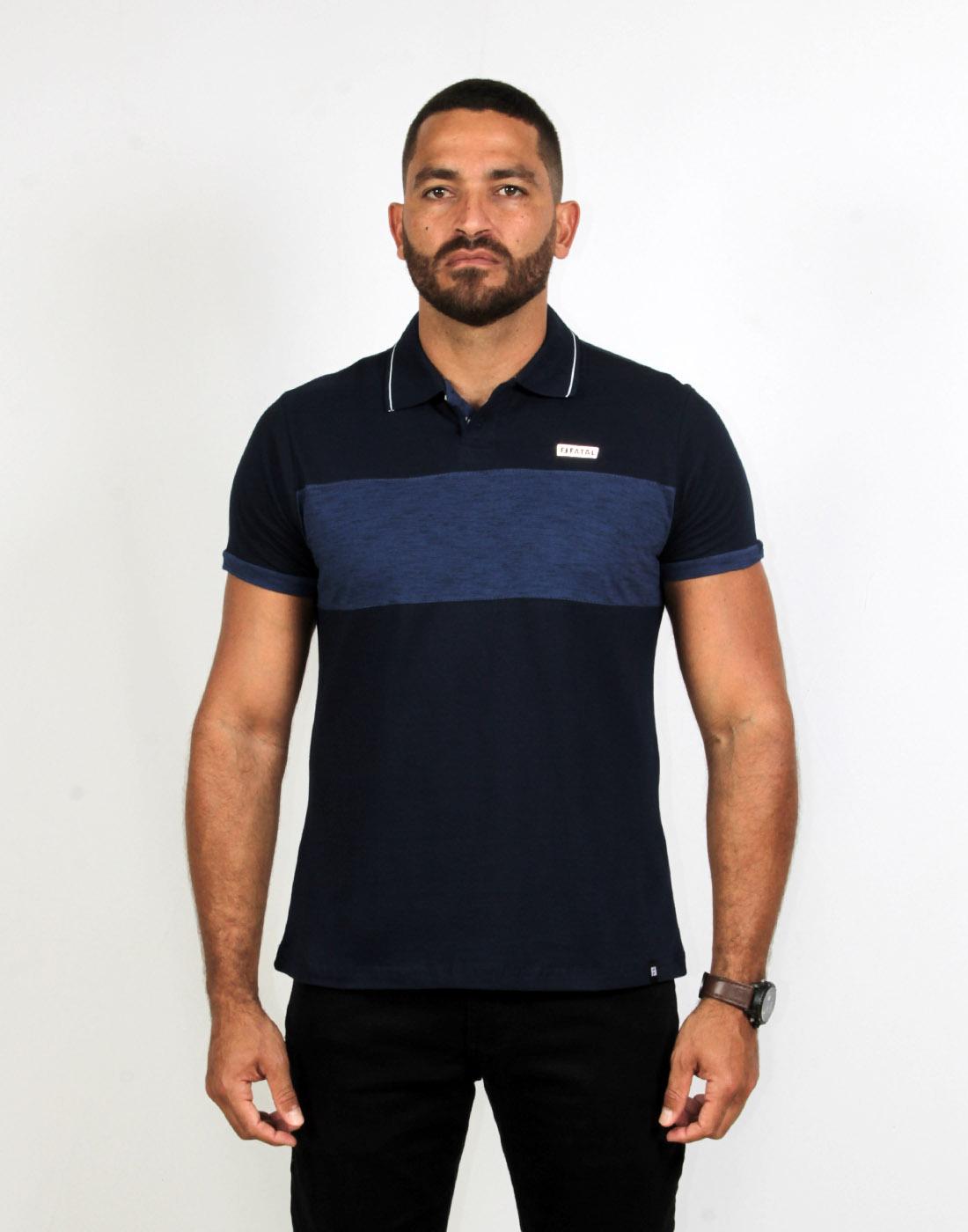 Camiseta Polo Masc. Especial Estampada Fatal