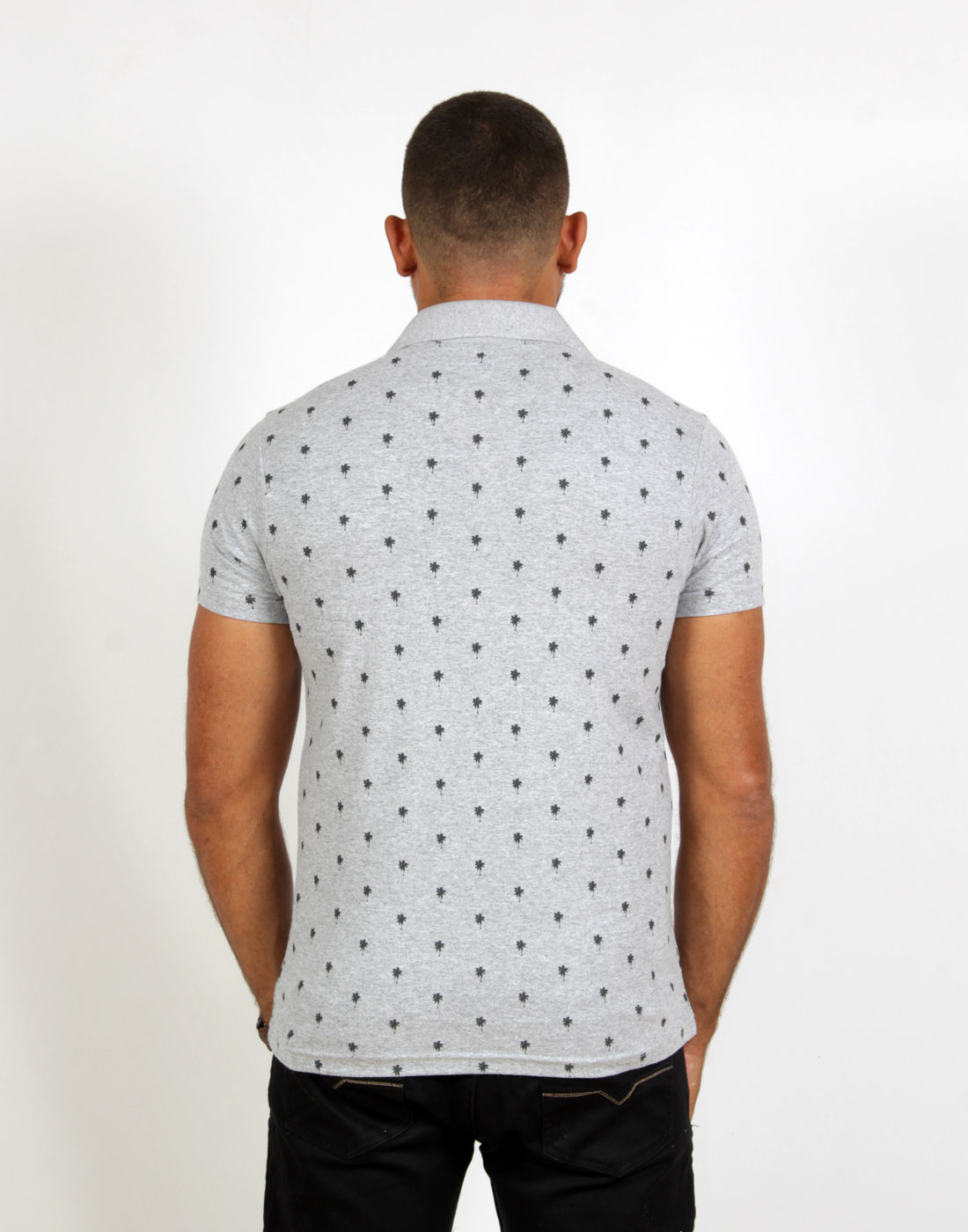 Camiseta Polo Masc. Especial Estampada Mescla Fatal