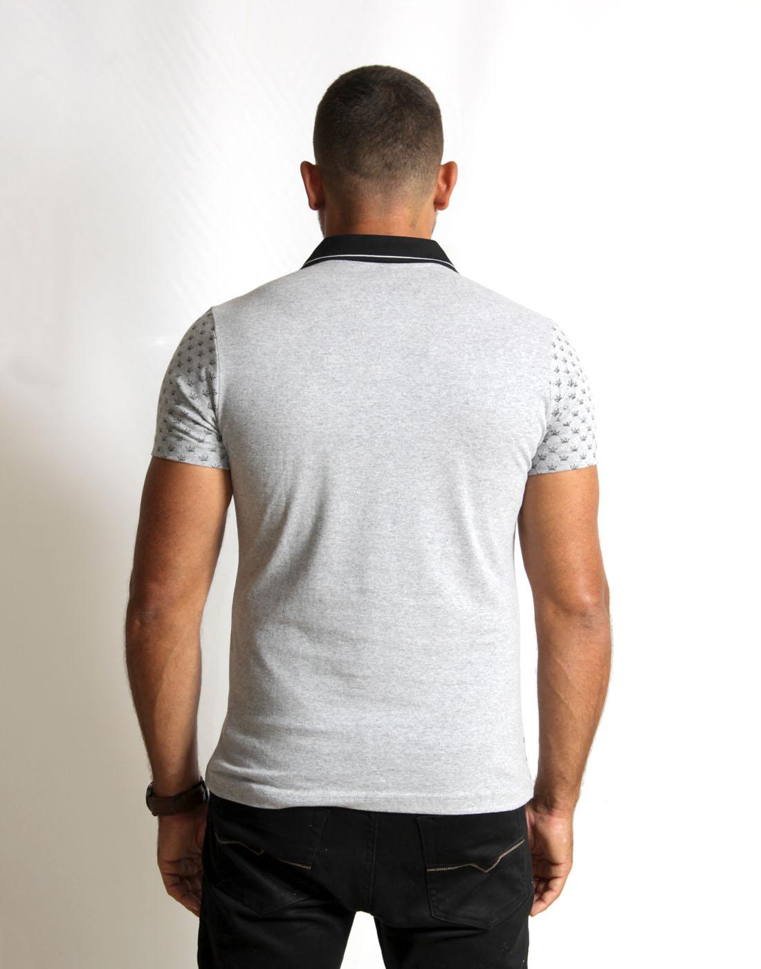 Camiseta Polo Masc. Estampada Fatal