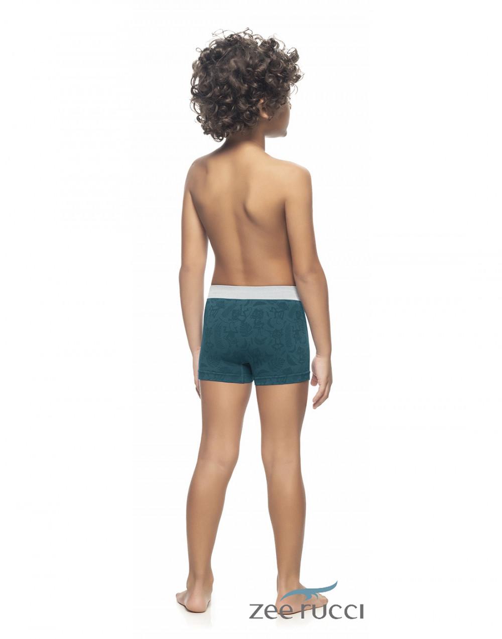 Cueca Boxer Infantil Listrada Sem Costura Zee Rucci