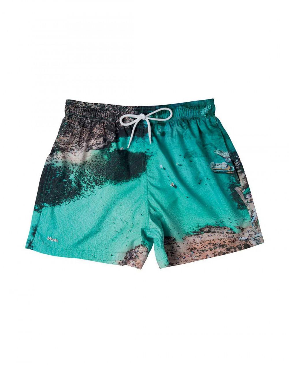 Shorts Curto Estampado Paisagens FPS 30 Mash